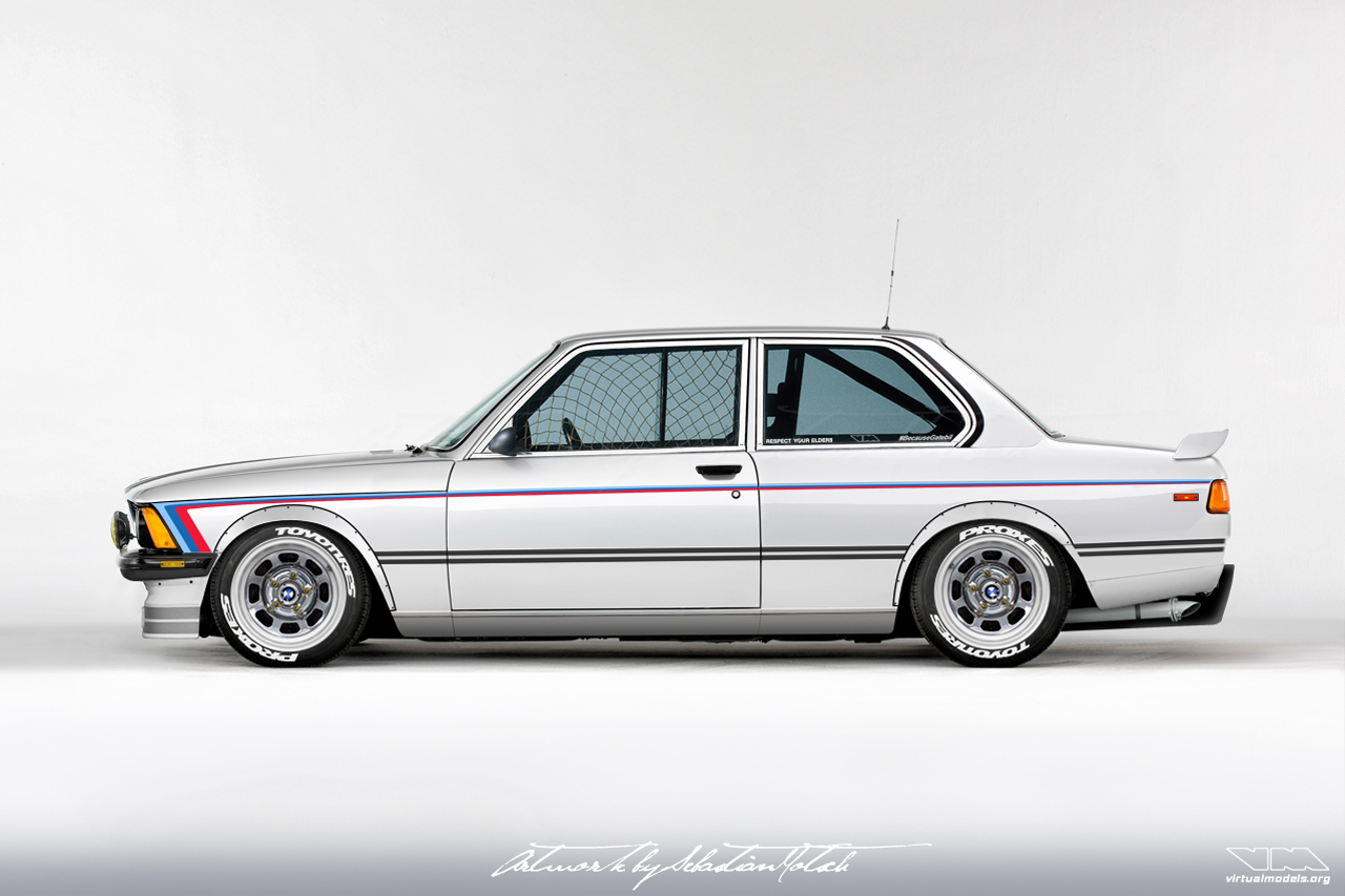 BMW E21 323i with GM LS1 V8 | photoshop chop by Sebastian Motsch (2018)