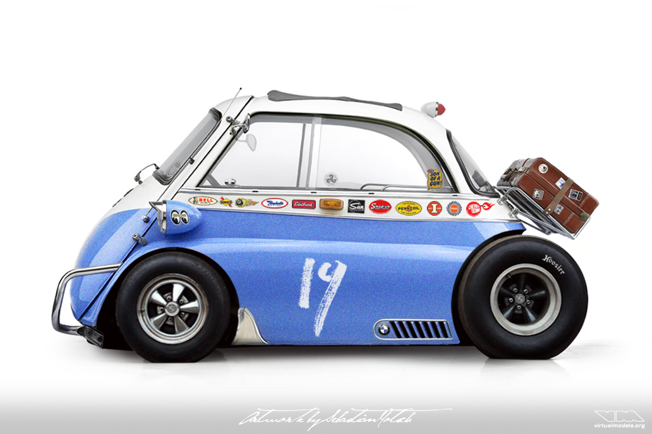 BMW Isetta Dragster | photoshop chop by Sebastian Motsch (2018)