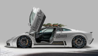 Bugatti EB110 Widebody Conversion Merry Christmas | photoshop chop by Sebastian Motsch (2018)
