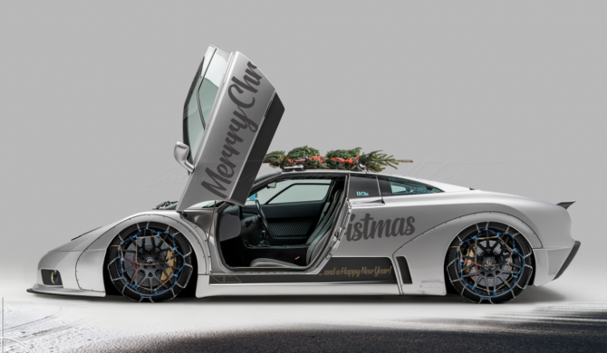 Bugatti EB110 Widebody Conversion Merry Christmas | photoshop chop by Sebastian Motsch (2018)