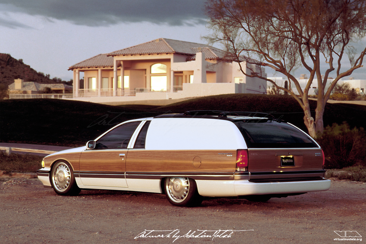 Buick Roadmaster Estate Wagon Panel Van Conversion | photoshop chop by Sebastian Motsch (2018)