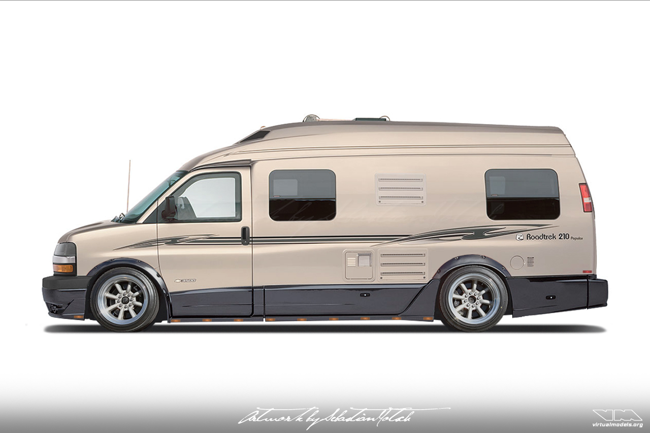 Chevrolet Express Van 3500 Roadtrek 210 Popular Drift Camper | photoshop chop by Sebastian Motsch (2017)