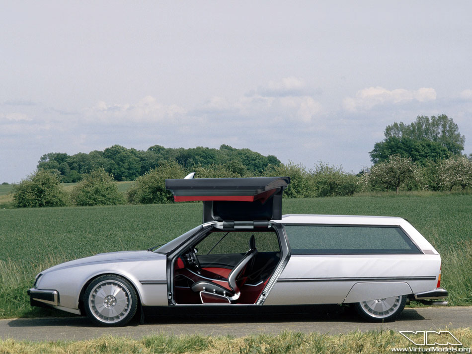 Citroen CX Shooting Break Gullwing | photoshop chop by Sebastian Motsch (2013)