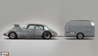 Citroen DS 21 Pallas La Déesse Dragster with Trailer | photoshop chop by Sebastian Motsch (2018)