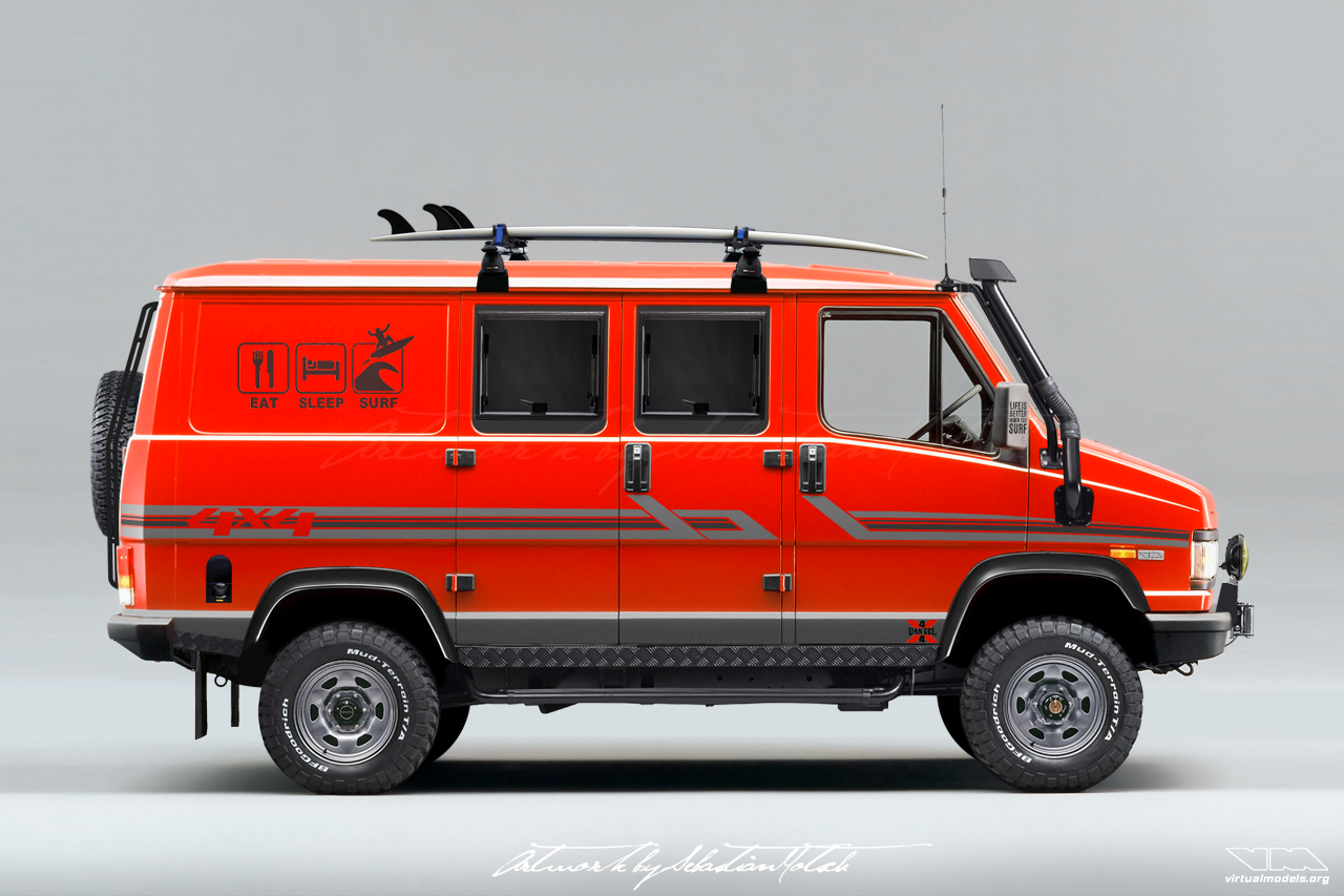 FIAT Ducato Dangel 4x4 Surf Van | photoshop chop by Sebastian Motsch (2018)