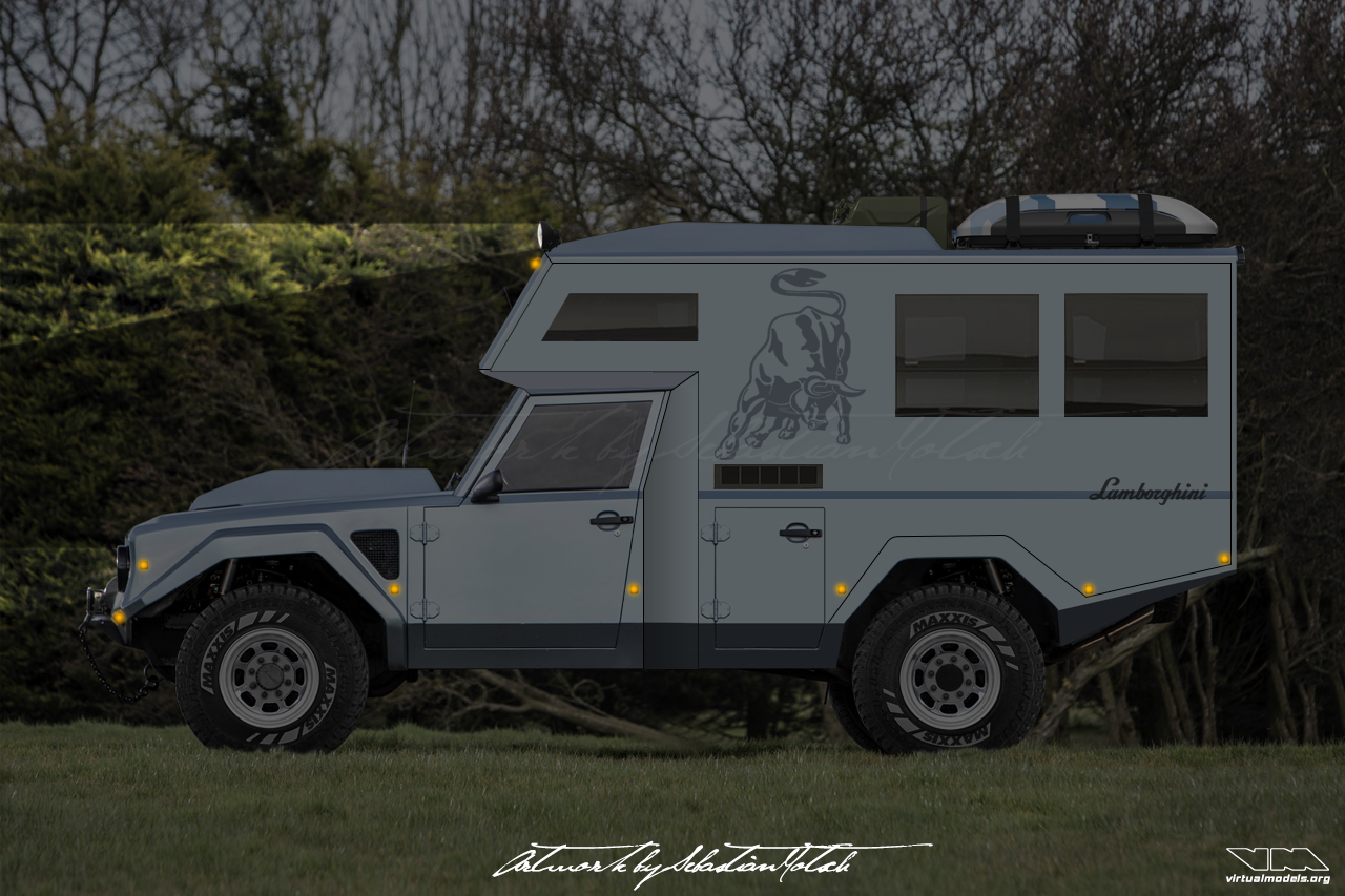 Lamborghini LM002 4x4 Camper photoshop | photoshop chop by Sebastian Motsch (2019)