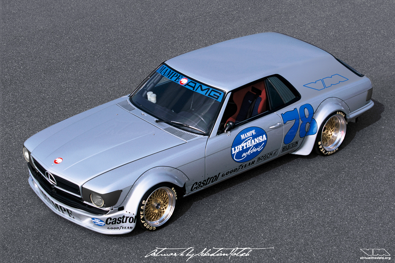 Mercedes-Benz C107 450 SLC Panel Van Mampe racecar | photoshop chop by Sebastian Motsch (2017)