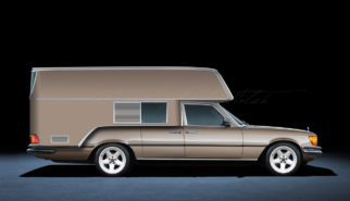 Mercedes-Benz W116 S-Class Camper AMG | photoshop chop by Sebastian Motsch (2018)