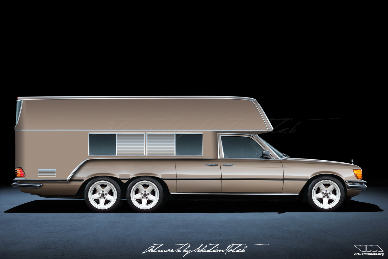 Mercedes-Benz W116 S-Class Camper AMG 6x4 | photoshop chop by Sebastian Motsch (2018)