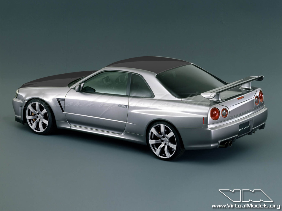 Nissan Skyline GT-R34 | photoshop chop by Sebastian Motsch (2010)