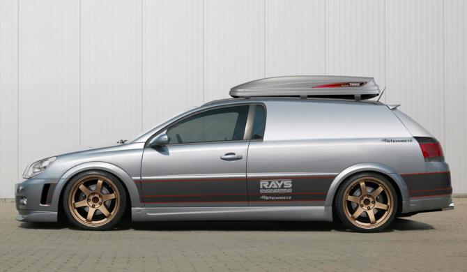 Opel Signum Steinmetz Panel Van with gold Rays TE37   photoshop chop by Sebastian Motsch (2017)