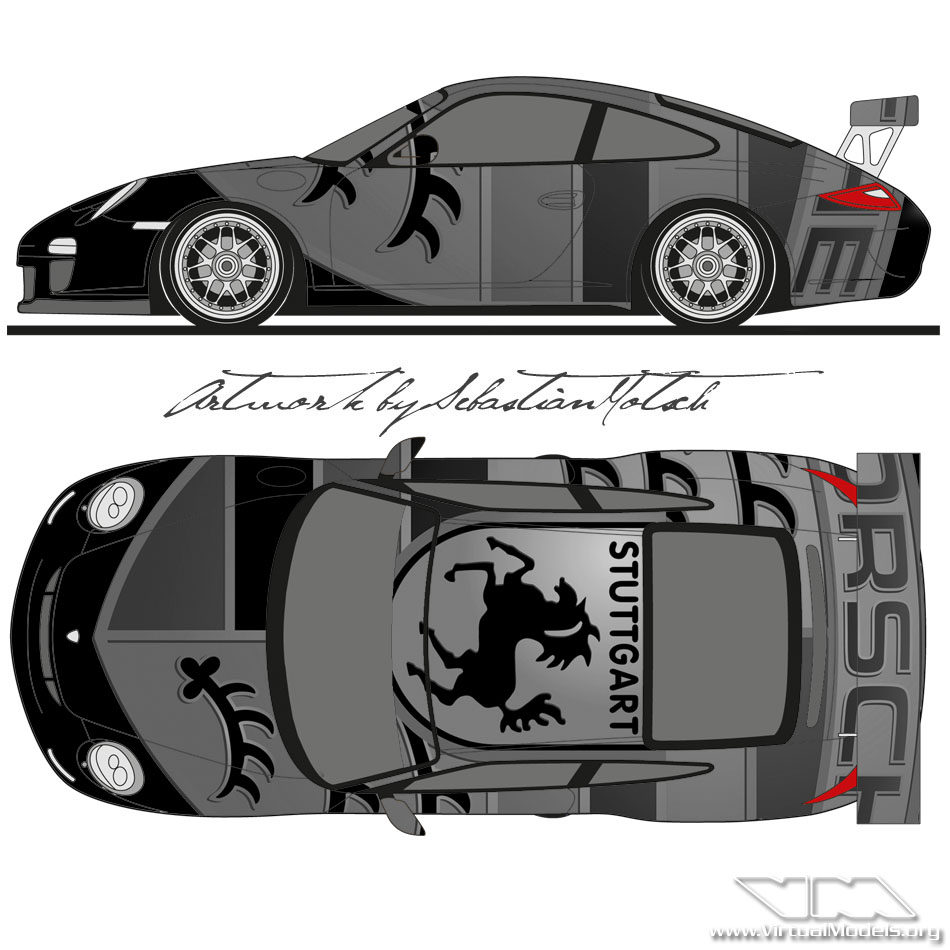 Porsche 911 GT3RS (997) | Livery Design by Sebastian Motsch (2012)