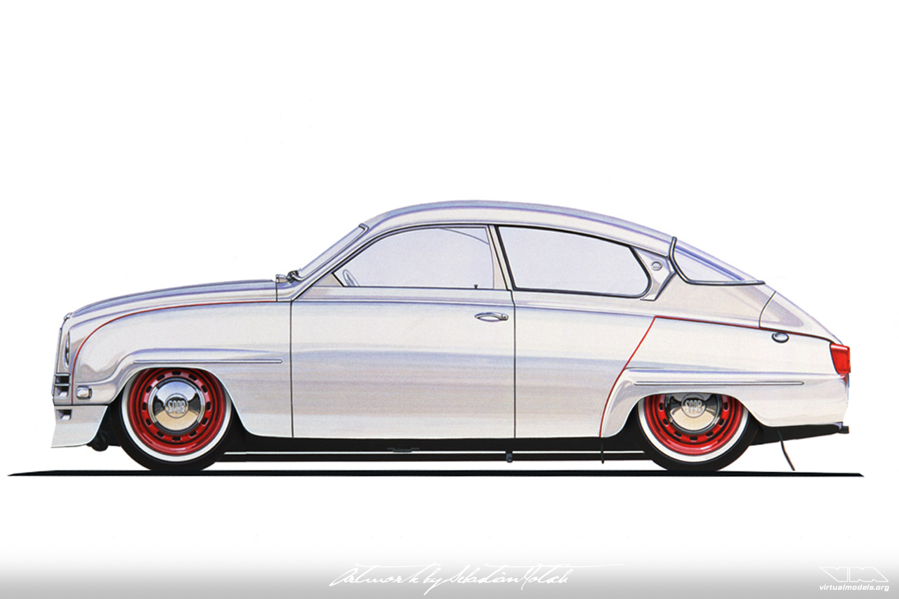 SAAB 96 Custom Top Chop | photoshop chop by Sebastian Motsch (2018)