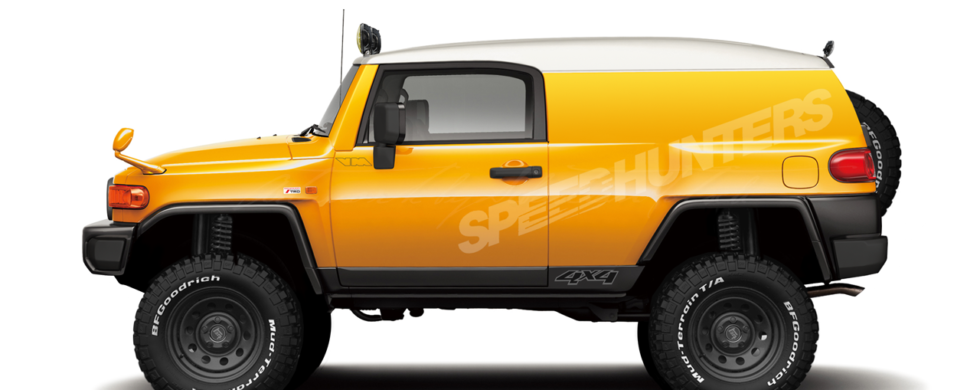 Toyota FJ Cruiser 4x4 Panel Van Conversion Speedhunters Livery | photoshop chop by Sebastian Motsch (2018)