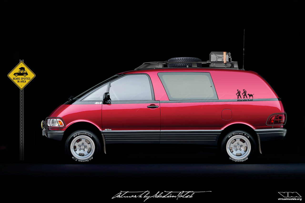 Toyota Previa All-Trac 4x4 Wanderlust Special | photoshop chop by Sebastian Motsch (2018)