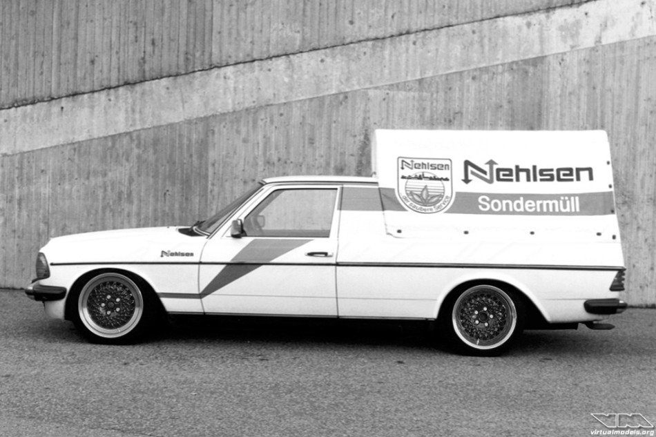 Mercedes-Benz W123 240D Pick-up by Baumgartner | photoshop chop by Sebastian Motsch (2015)