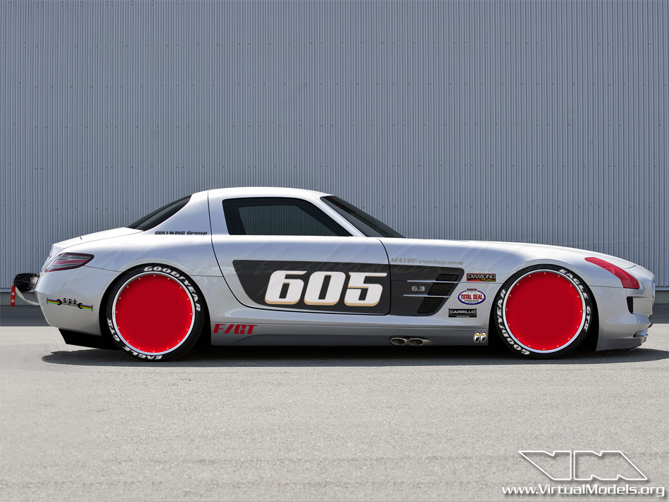 Mercedes-Benz SLS AMG Bonneville Special | photoshop chop by Sebastian Motsch (2012)