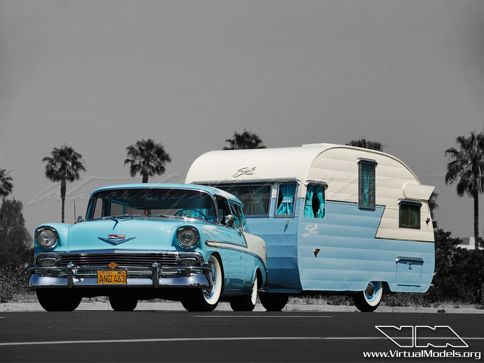 1956 Chevrolet Nomad with Shasta Trailer | photoshop chop by Sebastian Motsch (2011)