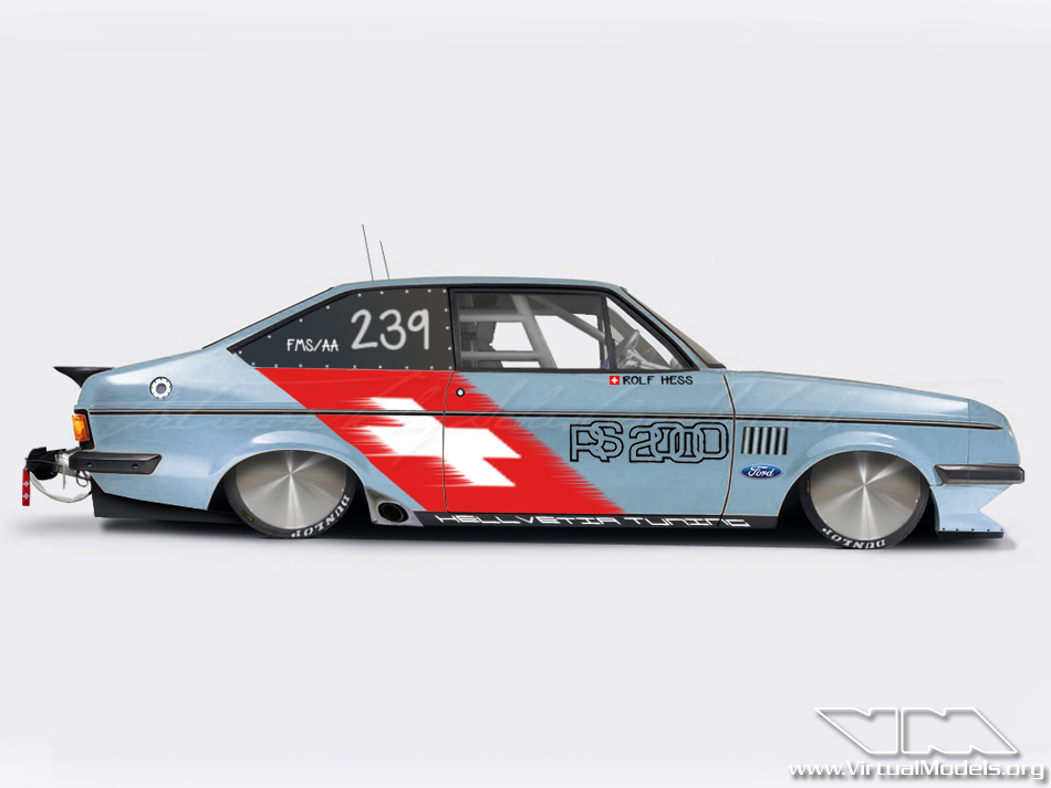 Ford Escort RS2000 Mk2 Bonneville | photoshop chop by Sebastian Motsch (2012)