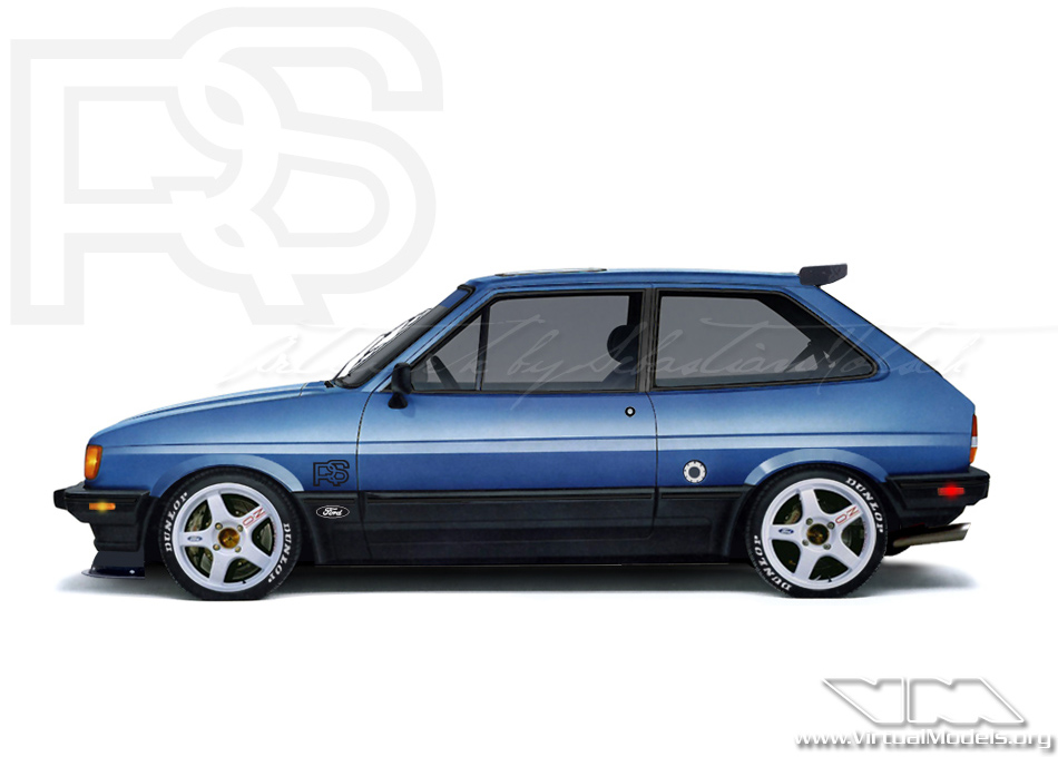 Ford Fiesta Mk2 Ghia RS | photoshop chop by Sebastian Motsch (2011)
