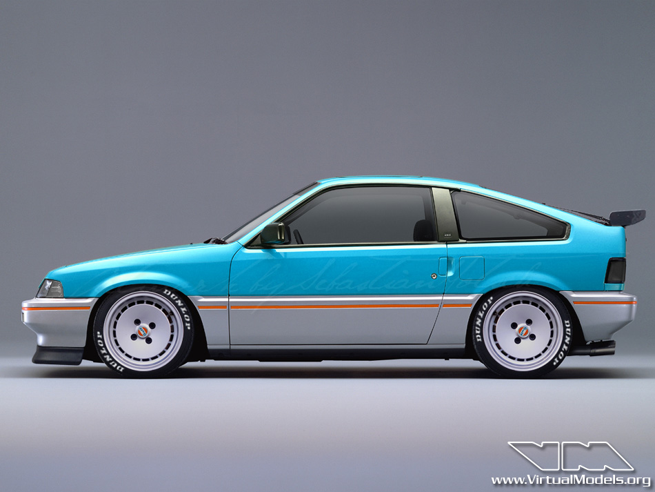 Honda CRX Gulf Special Edition | photoshop chop by Sebastian Motsch (2012)