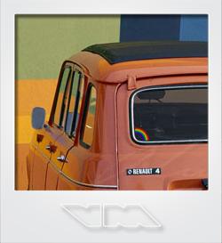 Renault R4 Rainbow Van | photoshop chop by Sebastian Motsch (2013)