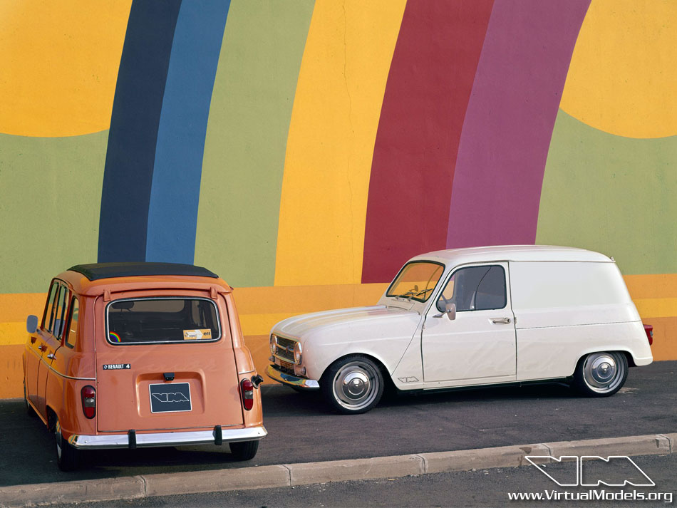 Renault R4 Rainbow Van | photoshop chop by Sebastian Motsch (2013)