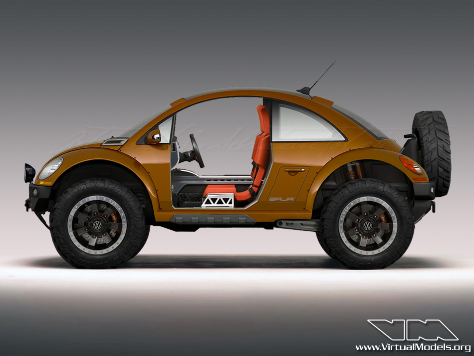 Volkswagen New Beetle BAJA Concept | photoshop chop by Sebastian Motsch (2012)