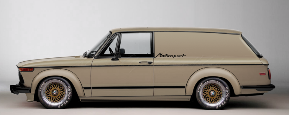 BMW 2002 Turbo Panel Wagon Concept | Photoshop Chop by Sebastian Motsch (2016)