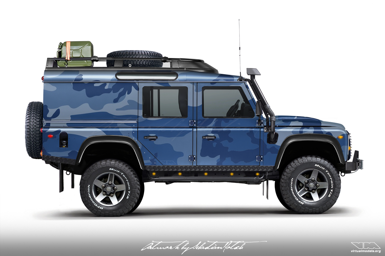 Land Rover Defender 110 Utility Wagon | photoshop chop by Sebastian Motsch (2017)