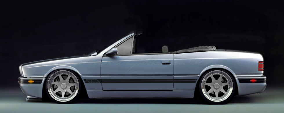 Maserati Biturbo Spyder | photoshop chop by Sebastian Motsch (2016)