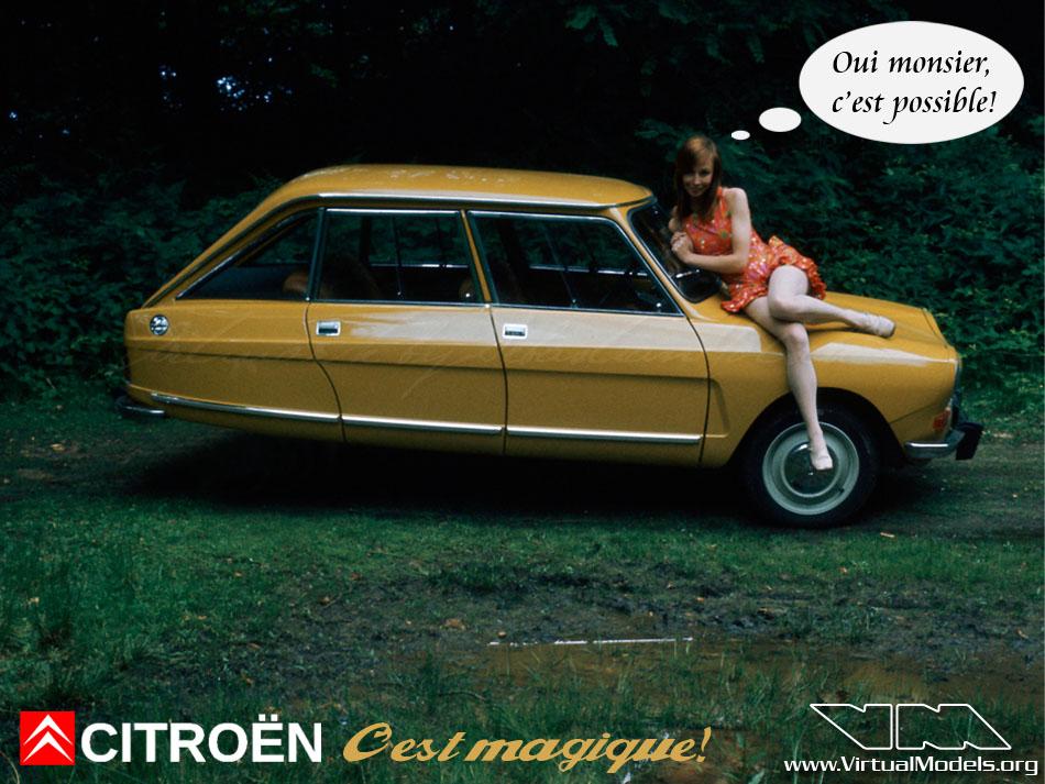 Citroen Ami 8 - C'est magique! | photoshop chop by Sebastian Motsch (2012)
